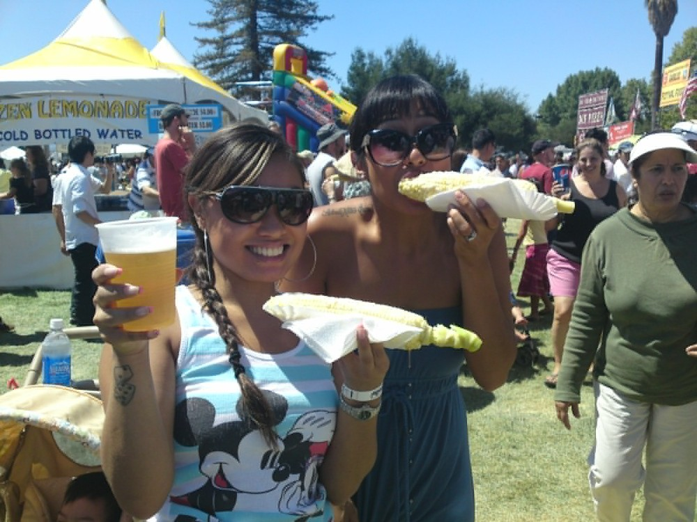 Hayati and I at the Gilroy Garlic Festival last Saturday
